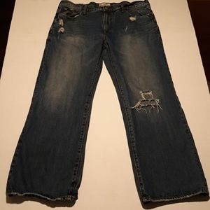 Aeropostale distressed blue jeans mens 36×30